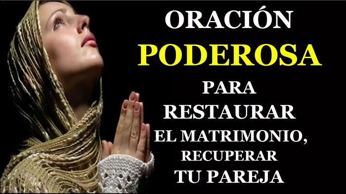 oraciones para la restauración del matrimonio